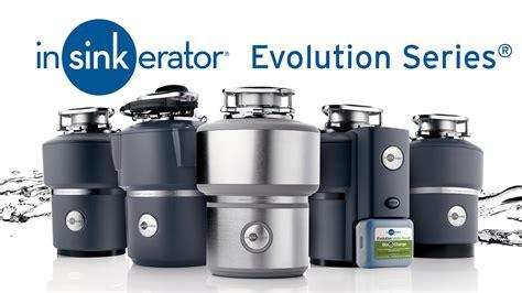 kitchen sink erator insinkerator evolution series garbage disposals 2695