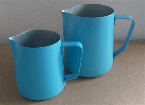 milk pitcher 1259 blue coffee omega milk pitcher light blue 600ml coffee