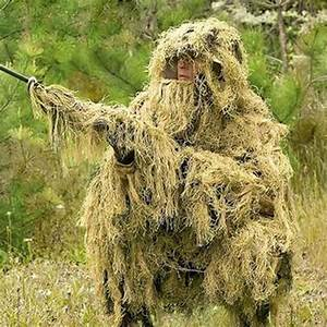 Outdoor Military Jungle 3D Bionic Leaf Hunting Ghillie ...