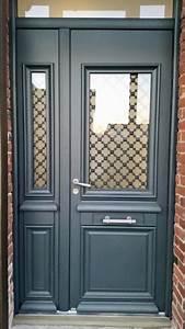 porte d39entree grise anthracite With porte d entrée alu avec salle de bain meuble gris anthracite