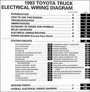 1991 Toyota Truck Wiring Diagram Manual Original
