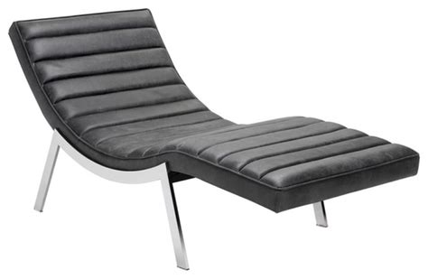 modern chaise in top grain leather modern indoor