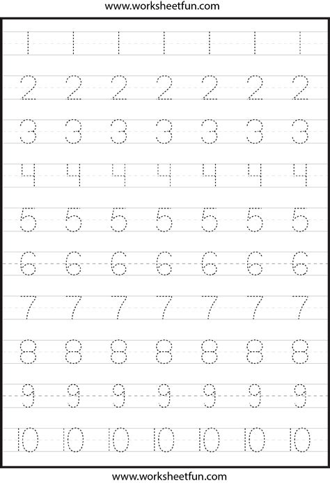number tracing worksheets for kindergarten 1 10 ten 481 | be61330f94d1635f3ed4918d196b1c4f