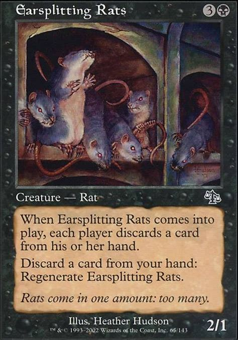 rat deck mtg tapped out earsplitting rats jud mtg card
