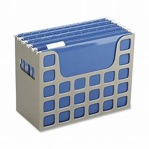 Oxford techfile hanging file bin letter size putty by for Hanging letter bin