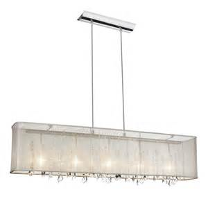 Drum Lights For Dining Room by Bohemian 5 Light 44 Quot Crystal Linear Pendant Chandelier