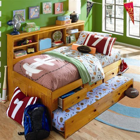 Daybed With Bookcase And Trundle by Discovery World Furniture Weston Daybed With Storage And