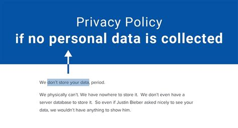 Privacy Policy If No Personal Data Is Collected