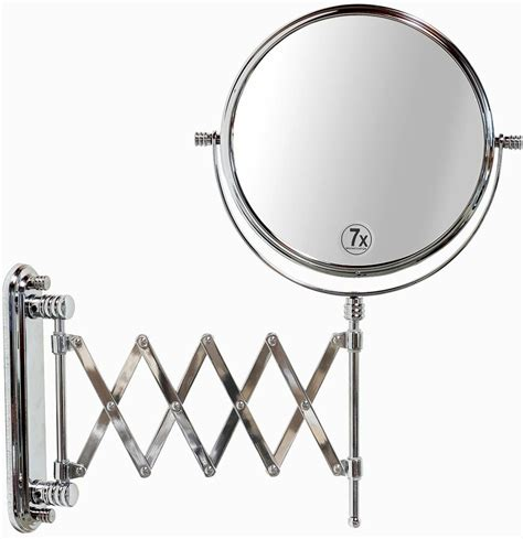 Extending Bathroom Mirrors by Wall Mount Mirror Makeup Two Sided Extension Magnification