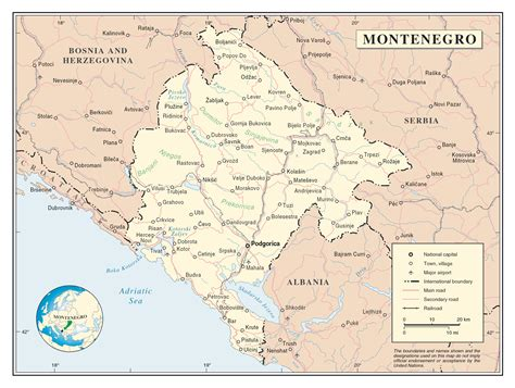 We would like to show you a description here but the site won't allow us. Large detailed political map of Montenegro with roads ...