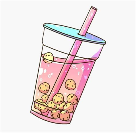 Find the perfect coffee illustration stock illustrations from getty images. #chick #yellow #pink #drink #smoothie #cup #cute #aesthetic - Aesthetic Bubble Tea Art , Free ...