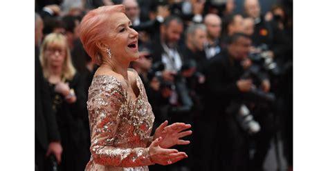 Helen Mirren Pink Hair At Cannes Film Festival Popsugar