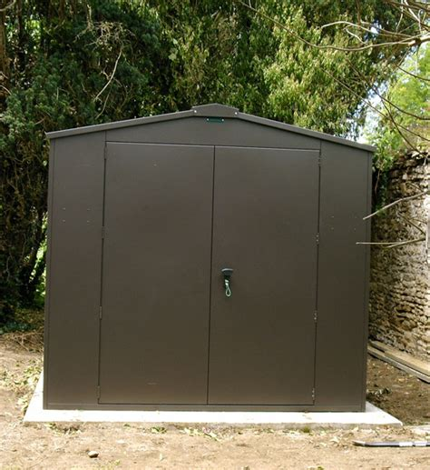 secure garden sheds metal sheds are available in a choice of colours from asgard