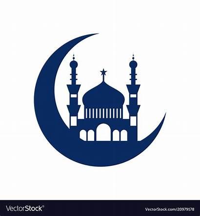 Mosque Vector Clipart Islamic Crescent Clip Cliparts