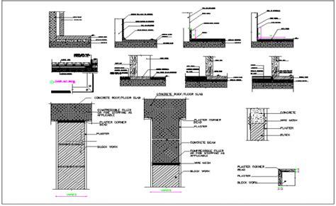 Floor interior finishing detail dwg file