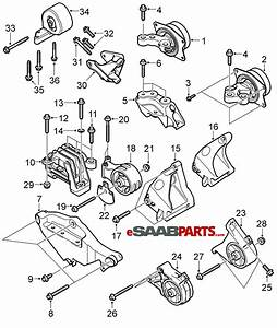 12777976  Saab Engine Mount Attachment Bracket Lh W   Xwd  For 9-3 V6  B284