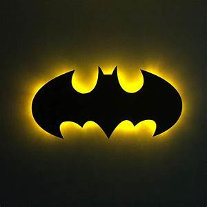 Batman LED Sign with Gold LED Lights - Fast Shipping