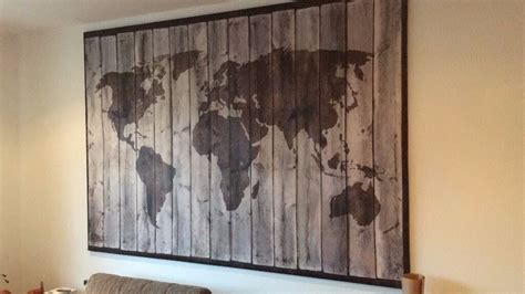 ikea driftwood world map picture large canvas  earls