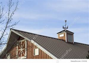 red barn with metal roof photo With barn roof topper