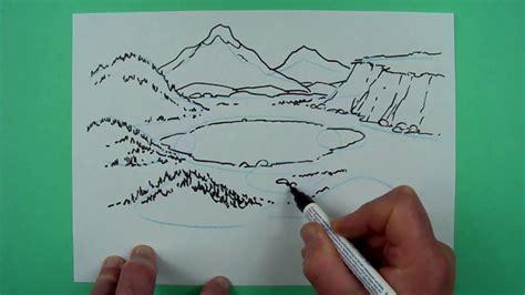 wie zeichnet man eine landschaft zeichnen fuer kinder