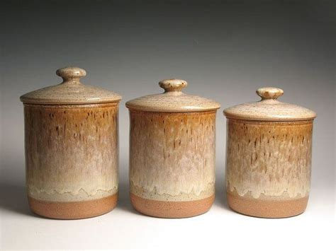 Canister Sets Ceramic by Pottery Ceramic Canister Set Pottery 2 Ceramic