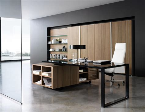 modern bureau working room design with modern office desk and