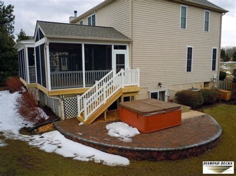 screened porch maryland deck and patio builders md
