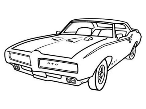 vintage corvette drawing a classic pontiac muscle car coloring sheet for kids