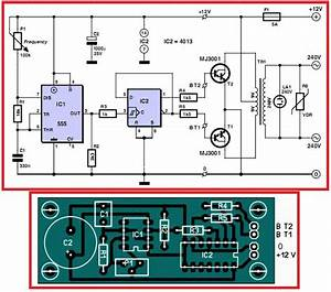 12v To 220v Inverter  Circuit Diagram U0026pcb Layout  Electrical Info Pics