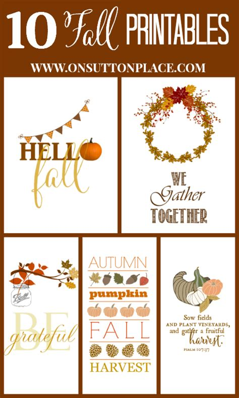 Thanksgiving & Fall Printables  The Party Fetti Blog