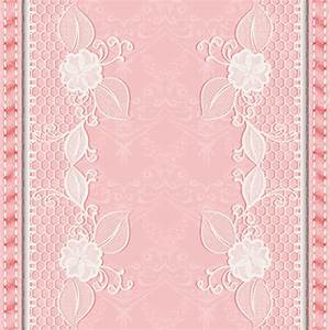 Pink background with white Lace vector material 03 ...
