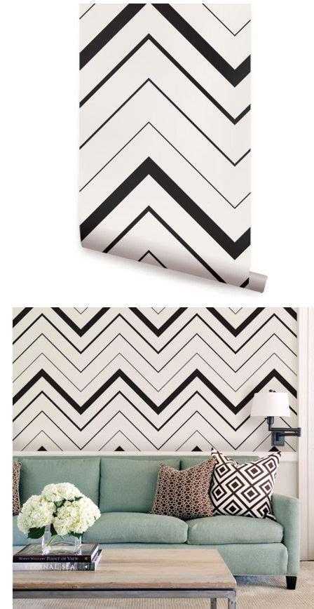 chevron black peel  stick wallpaper