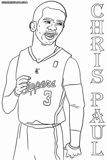 Nba Coloring Players Basketball Sheets Player Coloringway