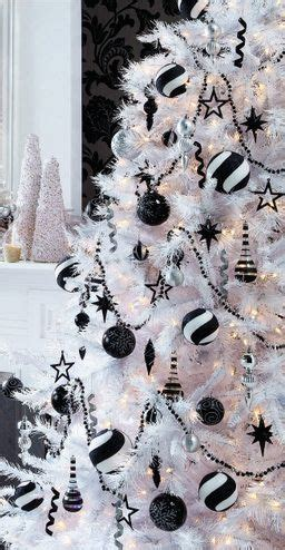 black and white christmas decor and white christmas on