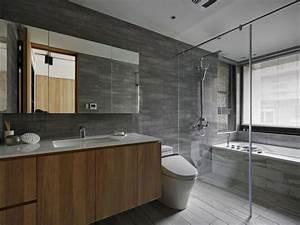 Meuble Salle De Bain Bois Gris : id e salle de bain moderne 60 id es comment la d corer ~ Edinachiropracticcenter.com Idées de Décoration