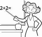 Teacher Coloring Pages Clipart Drawing Teaching Cartoon Colouring Teachers Printable Sheets Printables Doodle Cliparts Help 2021 sketch template