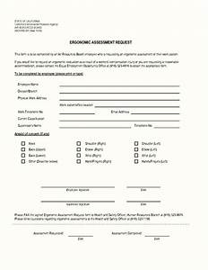 Ergonomic assessment form free template update234com for Ergonomic assessment template