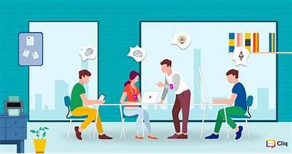 Culture Positive Team Collaboration Zoho Office Cliq