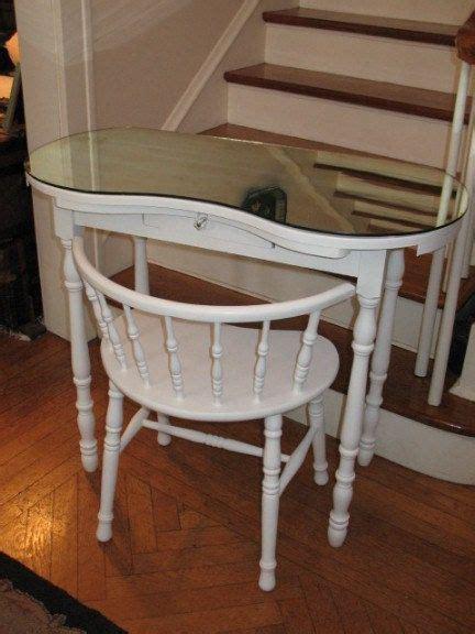 vintage kidney shaped vanity dressing table
