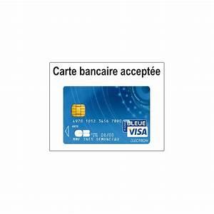 Automate Essence Carte Bancaire : sticker carte bancaire accept e etiquette autocollant ~ Medecine-chirurgie-esthetiques.com Avis de Voitures