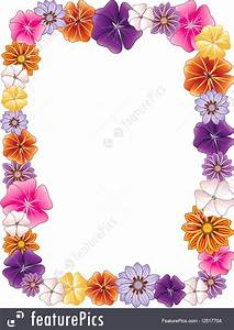 Contact Information Template Free Templates Flower Border Stock Illustration I2517704 At
