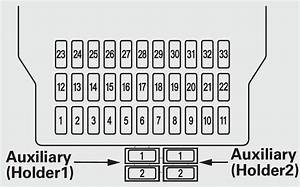 Acura Mdx  2011  - Fuse Box Diagram