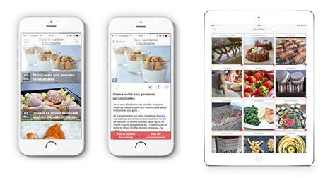 application recette cuisine 123 mobile agence mobile réalisation applications ios