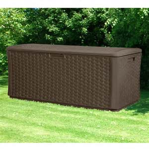 suncast resin wicker deck box next day delivery suncast