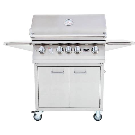 stainless steel gas grills lion 32 inch stainless steel freestanding propane gas grill bbq guys