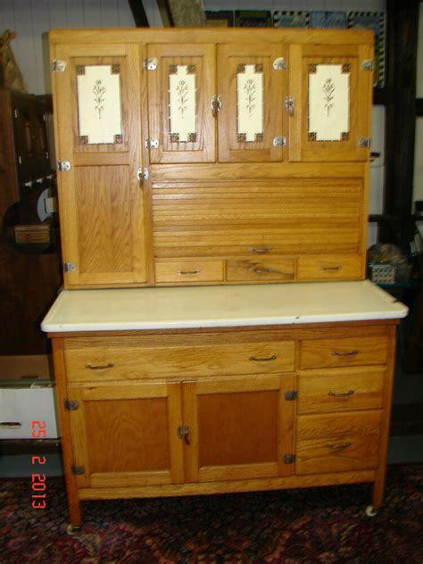 antique oak hooiser kitchen cabinet  siffter
