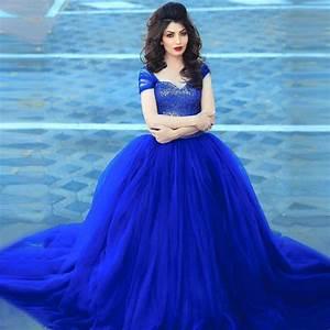 popular royal blue wedding gowns buy cheap royal blue With blue wedding dress designer