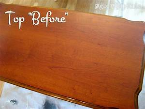 Update Old Wood Stained Furniture - Easily & Quickly