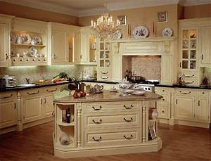 French Country Kitchen Decorations Storage Beside Solid