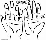 Hands Coloring Ands Simple Helping Colorings Hand Designlooter Open sketch template